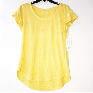 BNWT Lucky Brand 💛 Embroidery Embellished Sleeves